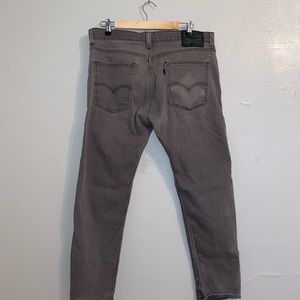 MENS DARK GRAY STRAIGHT LEG LEVIS
